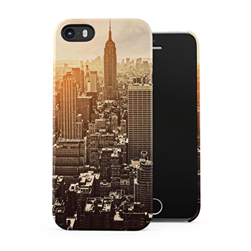 NY City New York Trill Sunset Queens Broadway Plastic Phone Snap On Back Case Cover Shell For iPhone 5 & iPhone 5s & iPhone SE