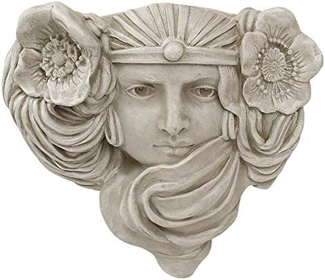 Design Toscano Art Nouveau Mystic Maiden Wall Pocket Planter Sculpture, single