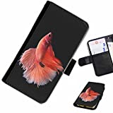 Hairyworm - Clownfish hiding in coral reef LG G3 (D855, D850, D851) leather side flip wallet cell phone case, cover with card slots, money slot and magnetic clasp to close.