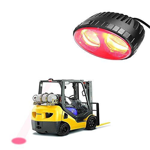 LED Forklift Safety Light SXMA 5.5inch 8W Red LED Work light CREE Chips Spot Warehouse Pedestrian Safe Warning Light(red) by SXMA (Image #1)