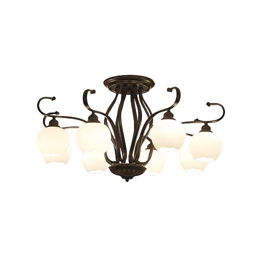 lámpara de techo de salón de hierro minimalista americana ...