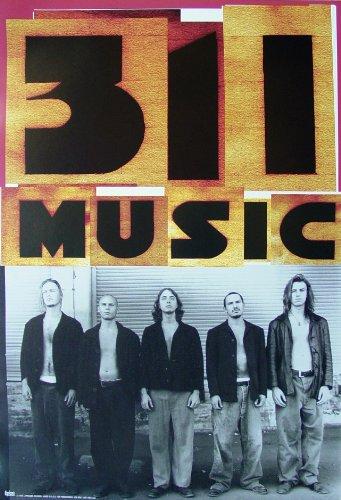 - 311 - Music - Poster - Rare - New - Capricorn - Nick Hexum - Tim Mahoney - S.A. Martinez - Chad Sexton - P-Nut