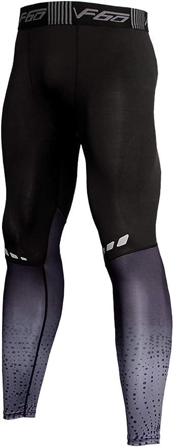 Hommes Gym La Musculation Compression Legging Collants Faire des Exercices Aptitude Un Pantalon Couche de Base Frais et Sec