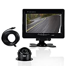 Pyle LCD Backup Camera Vehicle Mount W/ Weatherproof Dash Cam, Cam Recorder for Car, (2) 170 Degree Adjustable Angle, Night Vision Cams, Color Video Security System for Truck, Vans, Cars (PLCMTR70)