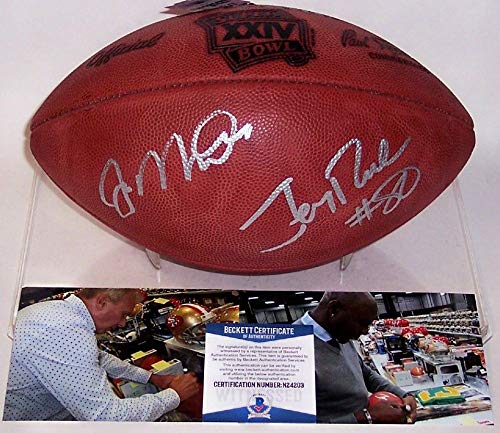 - Joe Montana & Jerry Rice Autographed Hand Signed Super Bowl 24 XXIV Official Wilson NFL Leather Football - BAS Beckett