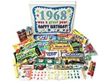 Woodstock Candy 1968 50th Birthday Gift Box – Vintage Nostalgic Retro Candy Assortment from Childhood for 50 Year Old Man or Woman