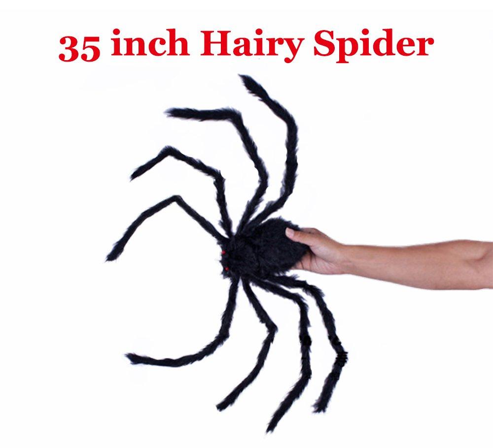 1PCS 35 INCH Halloween Decoration Virtual Realistic Hairy Spider COOLJOY