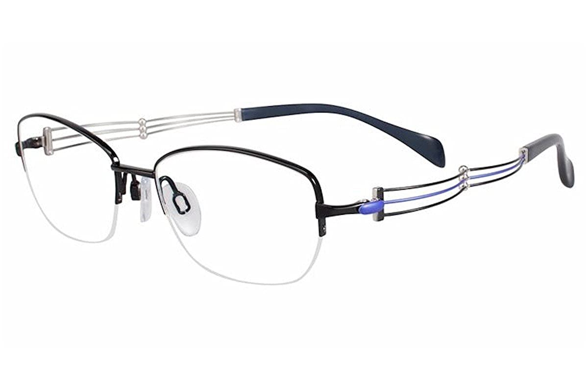 Charmant Line Art Eyeglasses XL2076 XL//2076 BK Black Titanium Optical Frame 51mm