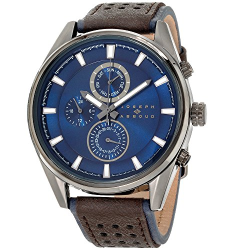 Joseph Abboud Navy Dial Leather Strap Men's Watch JA3205BK648-030