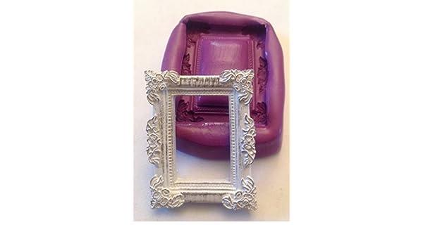 Molde de silicona con forma de marco, estilo Shabby chic: Amazon.es: Hogar