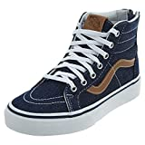 Vans Sk8-Hi Zip (Denim C&L) Fashion Sneakers Dress Blues/Chipmunk Size 1.5 Little Kid
