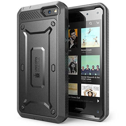 SUPCASE Amazon Fire Phone Case - Unicorn Beetle PRO Series Full-body Hybrid Protective Case with Built-in Screen Protector (Black/Black), Dual Layer Design/Impact Resistant Bumper, Compatible with Fire Phone 2014 Release