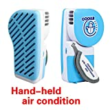 Mini Air Conditioning Personal Hand-held Cooler Fan Small Fan Mini Air Conditioner Speed Adjustable Summer Cooler Fan with Water Bottle Powered by USB Cable for Home Office Travel Outdoor