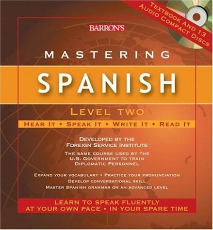 Mastering Spanish Level Two: Audio CD Package (Mastering Series/Level 2 Compact Disc Packages) by Barron's Educational Series