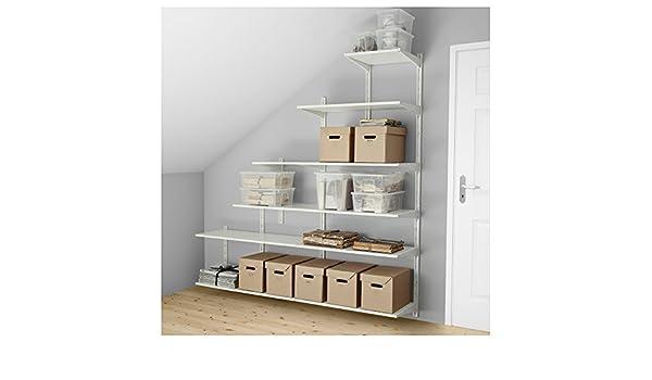 IKEA Algot - pared vertical/estantes color blanco: Amazon.es ...