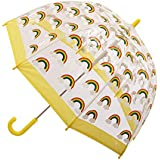 CLIFTON UMBRELLAS Rainbow Design Kid Friendly PVC Birdcage Umbrella, Rainbow, One Size