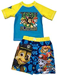 Nickelodeon Paw Patrol Toddler Boys Rashguard & Trunk Set UPF 50+ sun protection
