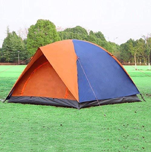 GZZ Guo Outdoor-Produkte im Freien Regen 3-4 Personen Camping Zelte, Oxford Tuch Regen Freien Sonnencreme, Glasfaser-Stangen sicher und Langlebig, Home Outdoor Portable Zelte f8f4f3