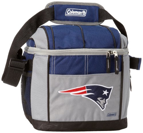 NFL New England Patriots 24 Can Soft Sided Carry Coleman Cooler