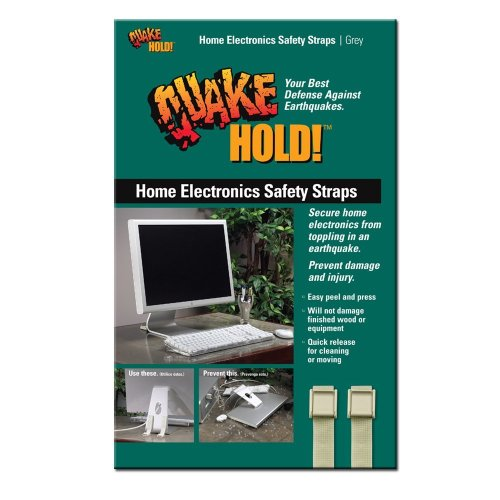 (QuakeHold! 4172 Home Electronic Safety Strap, Grey)