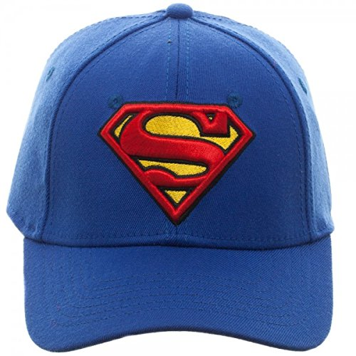 Baseball Cap - Superman - Royal Flex Cap New Hat Licensed ()
