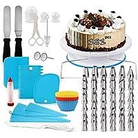 Nifogo Decoración de Pasteles Kit Torta Giratoria Herramienta de Pastelería Platos para Tarta Cake Turntable 54…