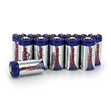 12 Pcs Tenergy Propel CR123A Lithium Battery with PTC Protected (39045) [Camera]