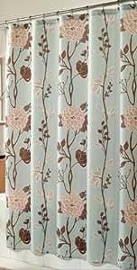 m.style MS8103-BLUE Cassandra Shower Curtain