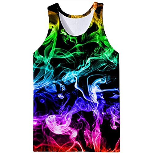 Men's Summer Top 3D Printed Vest Fashion Comfort Blouse T-Shirt]()