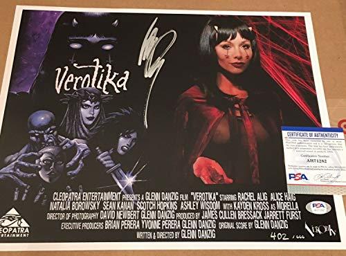 Glenn Danzig Autographed Signed Signed 11x14 Verotika Movie Poster - PSA/DNA COA