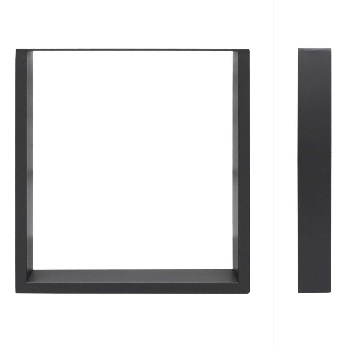 ECD Germany 2x Patas de mesa dise/ño industrial hecho de acero pies de mesa gris 40 x 43 cm juego de patas de mesa