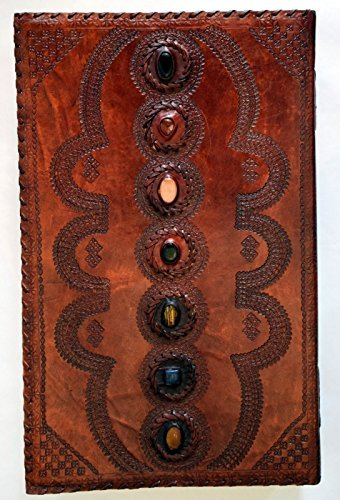 Large Leather 7 Stone Blank Journal by Fantasy