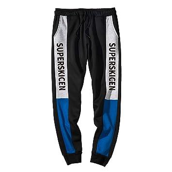 STRIR Hombre Pantalones Largos Moda Casuales Slim Pantalón con Bolsillos Stretch Deportivos Otoño Invierno Pants