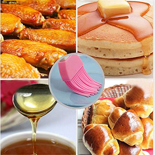 Baking with Silicone Baking Tools in Cooking Utensils Basting Pan BBQ Basting Silicone BBQ Brush Silicone Pasting Basting Brush Baking Bakeware BBQ Cake Pastry Bread Oil