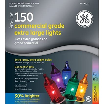 ge pro line 150 ct multi color commercial grade extra large string light set ge80324