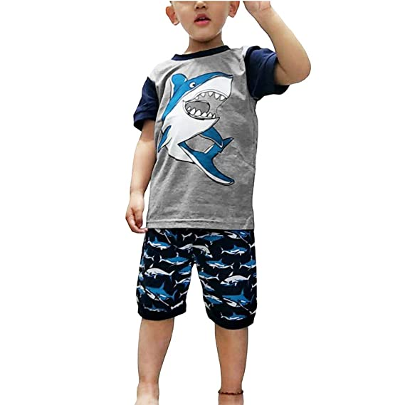 Baiomawzh Ropa Bebe Niño Verano-Camisa Camiseta con Estampado ...