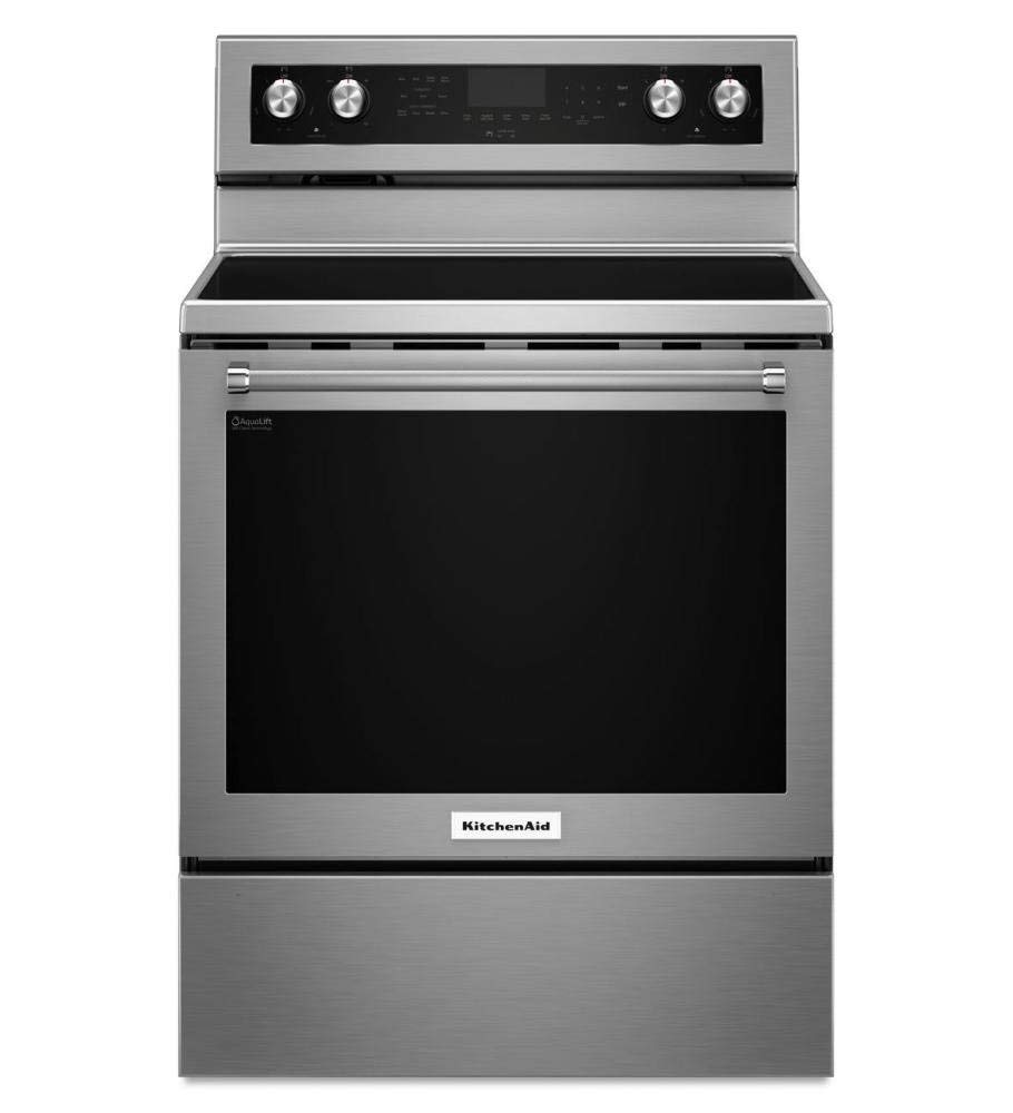 Stainless Steel Kitchenaid 30-inch 5-element Electric CONVECTION... (Certified Refurbished)