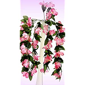 "Inna-Wholesale Art Crafts New 26"" Hibiscus Mauve Pink Hanging Bush Silk Decorating Flowers Bouquets Centerpieces - Perfect for Any Wedding, Special Occasion or Home Office D?cor 15"