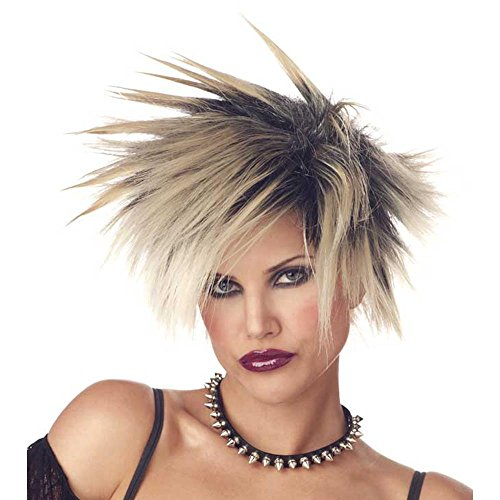 Std Size Adult 80s, 90s or Contemporary Costume Spike Wig in (90s Rock Costume)