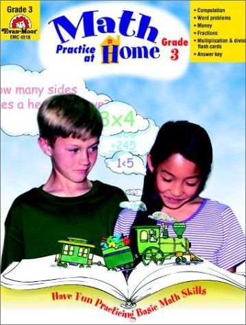Math Practice at Home, Grade 3 by Cheney Martha C. (2001-03-01) Paperback