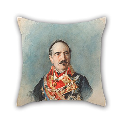 beautifulseason-oil-painting-josac-mara-a-casado-del-alisal-general-espartero-pillowcover-18-x-18-in