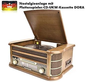 newtro Nostalgie Equipo con Tocadiscos/CD/FM/láser Dora: Amazon.es ...