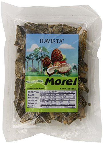 Havista Dried Morel Mushrooms, 1.5 Ounce