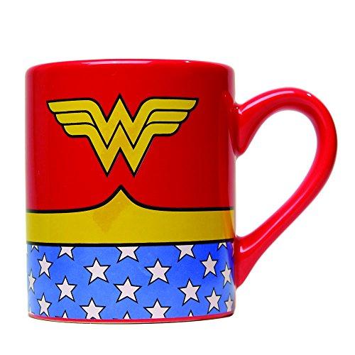 Silver Buffalo WW0134 DC Comics Wonder Woman Uniform Jumbo Ceramic Mug, 20-Ounces