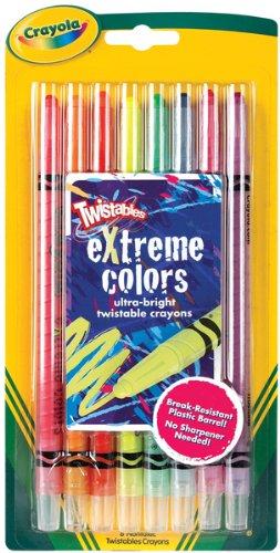 Crayola 529738 Twistable Crayons 8 Neon Colors/set