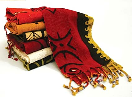 Extra Wide Mud Cloth Scarf/Table Runner