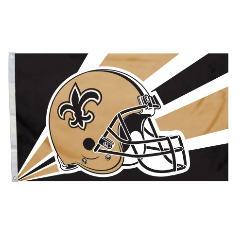 NFL New Orleans Saints 3-by-5 Foot Helmet - Outlet New Orleans