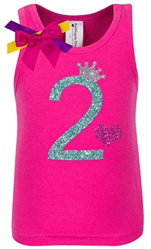 - Bubblegum Divas Baby Girls' 2nd Birthday Hot Pink Princess Shirt 18 Months