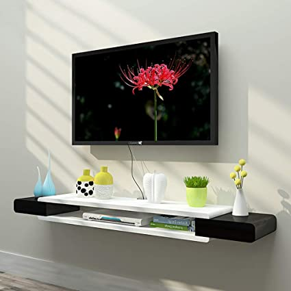 new style e4de9 15d85 Amazon.com: Wall Shelf Floating Shelf Wall-Mounted TV ...