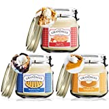 Apple Pumpkin Blueberry Pies Scented Candles for Home Gift Set | Non Toxic Long Lasting Soy Candles | Delicious Scents | 8 oz Mason Jars | Hand Made in The USA